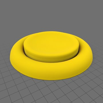 Large yellow push button