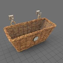 Empty woven storage basket
