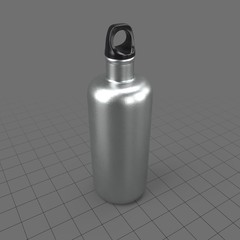 Wide aluminum drinking bottle 1