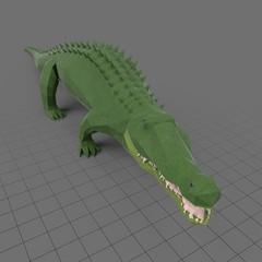 Stylized alligator walking
