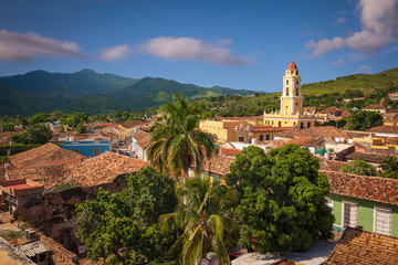 Panoramic view of the colonial town of Trinitad, Cuba UNESCO World Heritage.