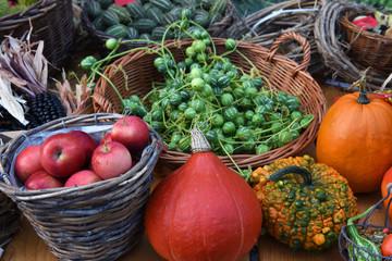 Gemüse, Obst, Markt, Wochenmarkt