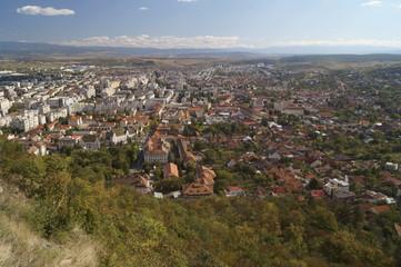 View from the hill of the  fortress - Deva, Transylvania, Romania