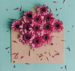 Bright Pink Flower Envelope