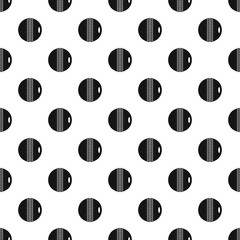 Black and white cricket ball pattern seamless in simple style vector illustration