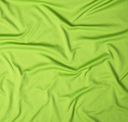 wrinkled green faux fabric, canvas for sportswear, full frame