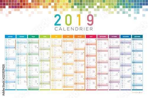 Calendrier Francais 2019.Calendrier Francais 2019 Stock Image And Royalty Free