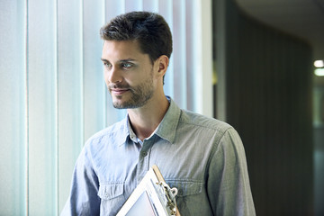 Engineer standing in office