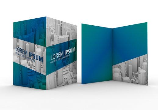 Isolated Pocket Folder Mockup