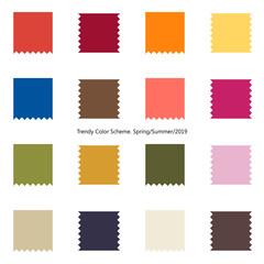 Trendy color scheme by plain color patches
