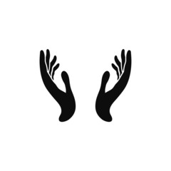 two hands icon vector illustration eps10.