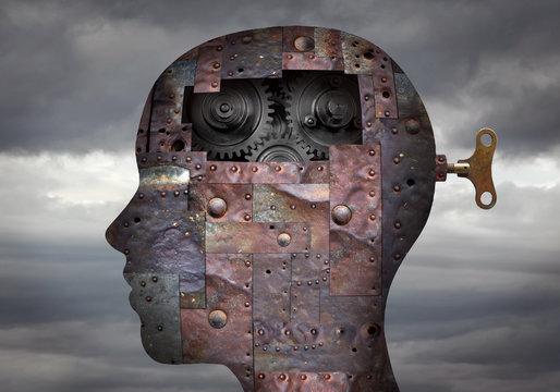 Metallic head with key