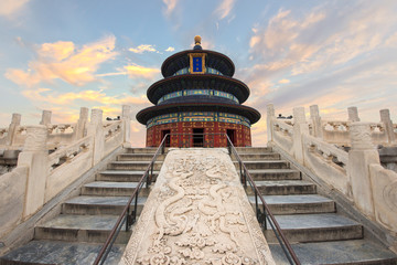 Keuken foto achterwand Temple Wonderful and amazing Beijing temple - Temple of Heaven in Beijing, China. Hall of Prayer for Good Harvest..