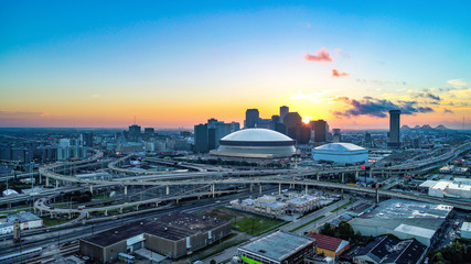 New Orleans, Louisiana, USA Skyline Sunrise Fotomurales