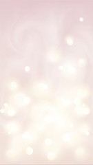 Pink bokeh effect vector abstract light greeting card vertical background