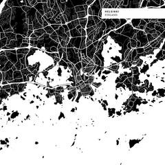 Area map of Helsinki, Finland