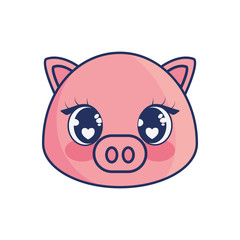 cute pig adorable character