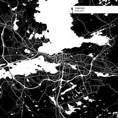 Area map of Tampere, Finland