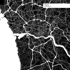 Area map of Porto, Portugal