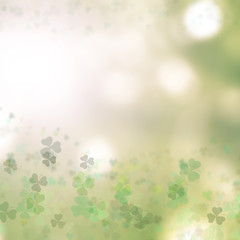 Saint Patrick's day background with shamrock green clover leaf, Irish festival symbol for St.Patrick day celebration
