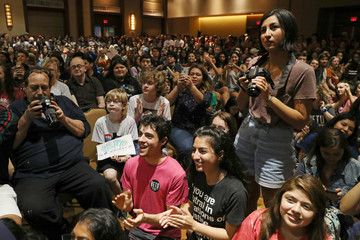 Supporters cheer as U.S. Rep. Beto O'Rourke, the 2018 Democratic candidate for U.S. Senate in Texas, speaks during a campaign rally at the University of Texas at Austin