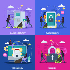 Cyber Security Flat Design Concept