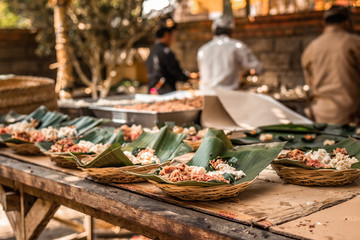 Balinese traditional food ready for cooking.