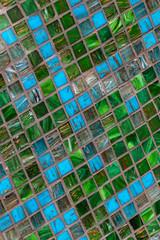 Fliesenmuster Türkis Mosaik