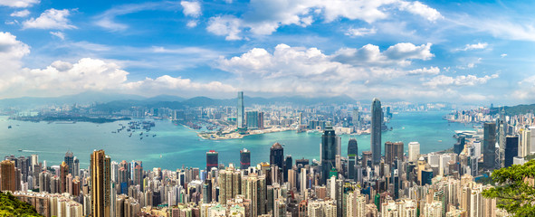 Foto auf Acrylglas Hongkong Panoramic view of Hong Kong