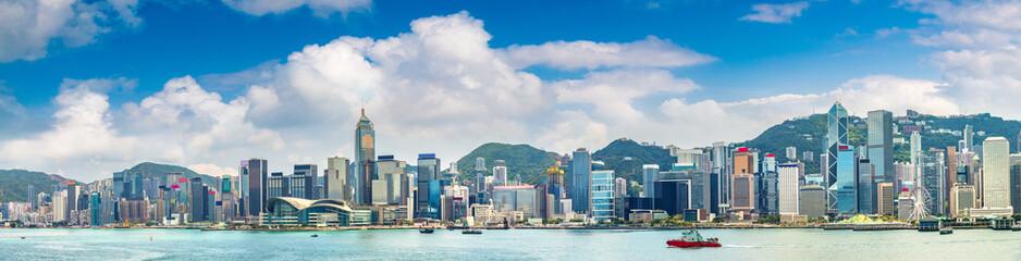 Victoria Harbour in Hong Kong Fototapete