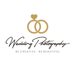 Vintage Wedding Photography Logo Design Inspiration Vector