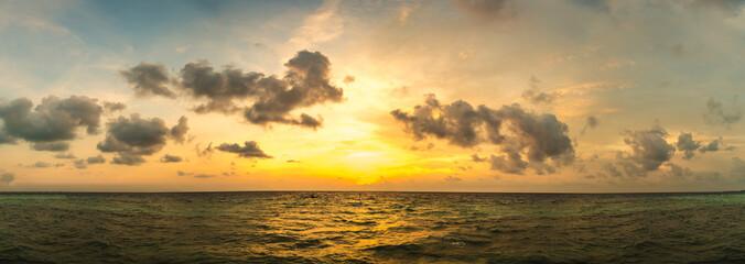 Sunset panorama at Maldives