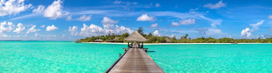 Obraz Water Villas (Bungalows) in the Maldives - fototapety do salonu