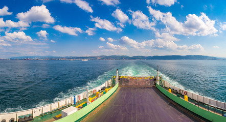 Ferry in Dardanelles strait, Turkey