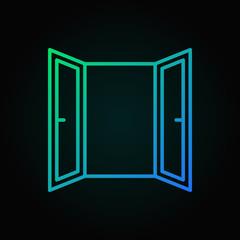 Open Window colored line icon. Vector window symbol