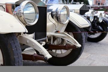 Vintage Rolls Royce's headlights
