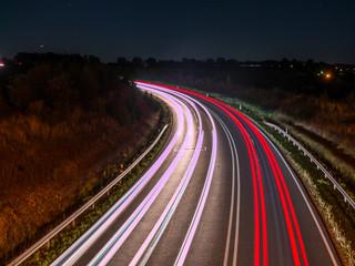 Lichtzieher auf der Autobahn
