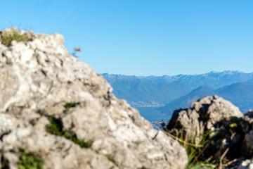 Scorcio del Lago Maggiore dal Campo dei Fiori di Varese. Sullo sfondo le Alpi Svizzere