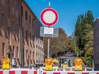 Durchfahrt Verboten Baustelle