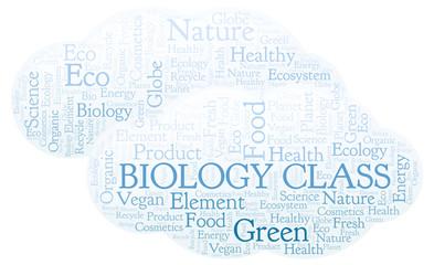 Biology Class word cloud.