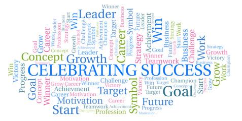 Celebrating Success word cloud.