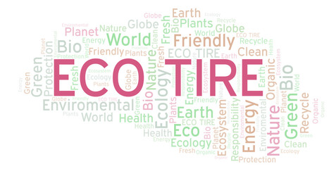 Eco Tire word cloud.