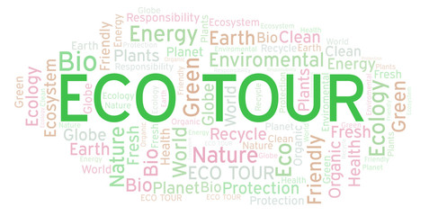 Eco Tour word cloud.