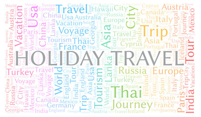 Holiday Travel word cloud.