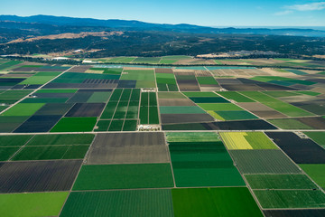 Farmland in Northern California Wall mural
