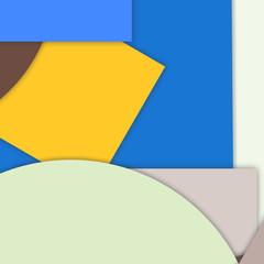 modern layered flat shapes background