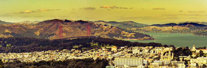 Panorama San Francisco Golden Gate Bucht