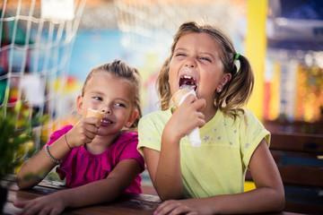 Ice creams after school.