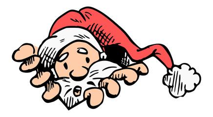Kerstman zit vast