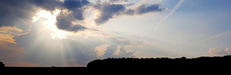 Abend Wolken Sonne